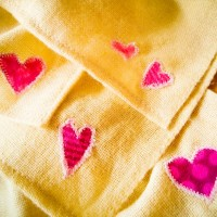 Muslin Squares with Hearts